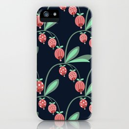 Daily pattern: Retro Flower No.12 iPhone Case