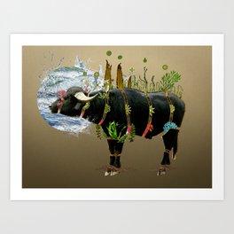 Water Buffalo Art Print