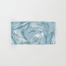 Island Dream Teal Palm Leaves Hand & Bath Towel