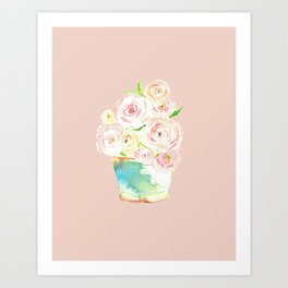 Potted Country Bouquet Art Print
