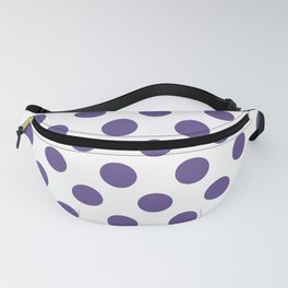 Ultra Violet Medium Polka Dots Fanny Pack