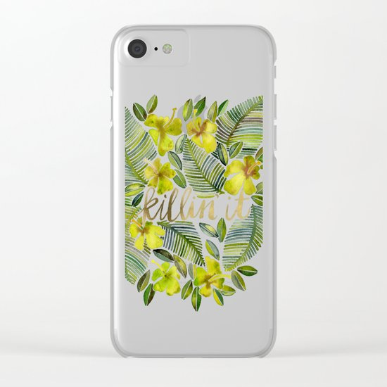 Killin' It – Tropical Yellow Clear iPhone Case