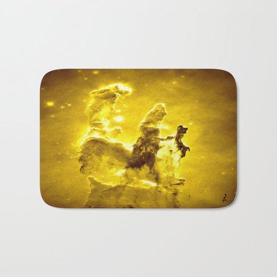 Yellow neBUla  Bath Mat