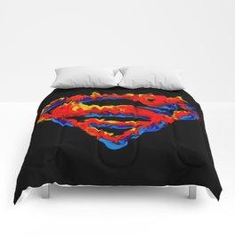 Superman in Flames Comforters