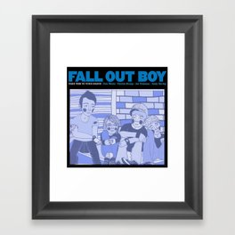 Take This To Your Grave. Framed Art Print