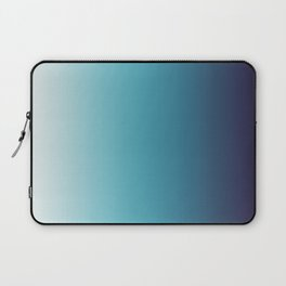 Blue White Gradient Laptop Sleeve