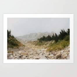 Mist Mountain Art Print