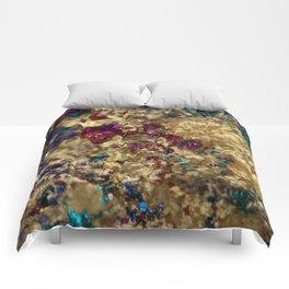Golden Oil Slick Quartz Comforters