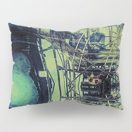 Train Scaffolding Pillow Sham