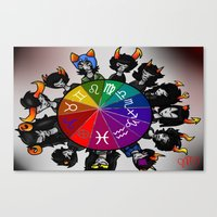 homestuck Canvas Prints featuring Homestuck Wheel by Darkerin Drachen