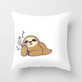 Sloth Shirt, Gift for Sloth Lovers, I Could Probably Care Less. But That Would Require Effort. Throw Pillow