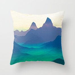 Green Valley Landscape Throw Pillow