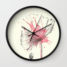 Dotted poppies Wall Clock