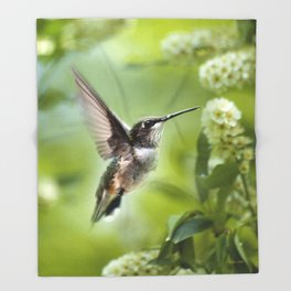 Hummingbird Love Throw Blanket