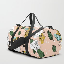 Bees on the flowers Duffle Bag