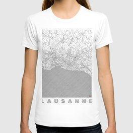 Lausanne Map Line T-shirt