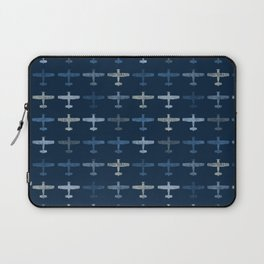Blue airplane pattern Laptop Sleeve