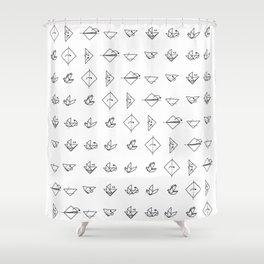 Origami Dove 01 Shower Curtain