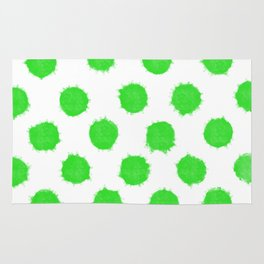 Bright Lime Green Polka Dots to Cheer You Up Rug