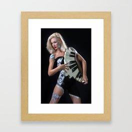 piano body mask Framed Art Print