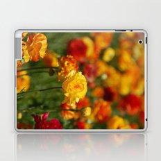 Yellow and orange ranunculus flower Laptop & iPad Skin