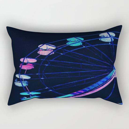 Ferris Wheel Pink Blue Aqua Rectangular Pillow