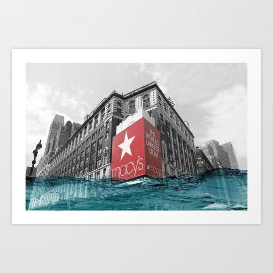 Macy's water line Art Print