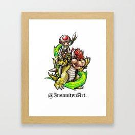 Insanity n Art.'s Bowser n Toads Adventure Design Framed Art Print