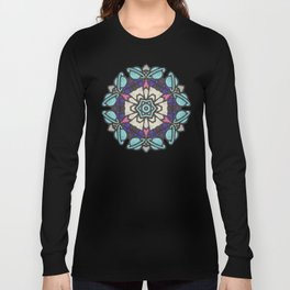 Saturn in Teal Leather - Photo of Leather, Suede and Krafttech Art Long Sleeve T-shirt