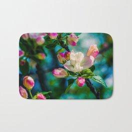 Crabapple flower and buds Bath Mat