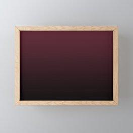 Burgundy Wine Ombre Gradient Framed Mini Art Print