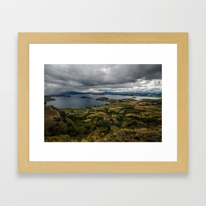 Lake Tota, Colombia Framed Art Print
