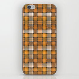 yellow basket weave plaid iPhone Skin
