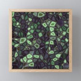 Fractal Gems 04 - Emerald Dreams Framed Mini Art Print