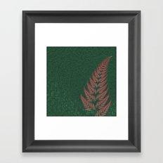 Fall Fern Fractal Framed Art Print