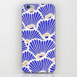 Blue Shell Pattern iPhone Skin