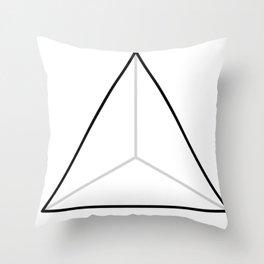 D4, White Throw Pillow