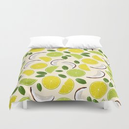 Lime Lemon Coconut Mint pattern Duvet Cover