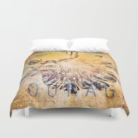 courage Duvet Covers featuring Courage by Jessica Lewis Designs