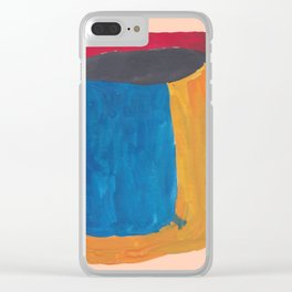 32   190330 Abstract Shapes Painting Clear iPhone Case
