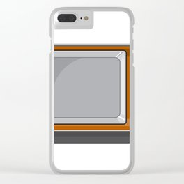 Vintage Television Set 1970s Retro Style Clear iPhone Case