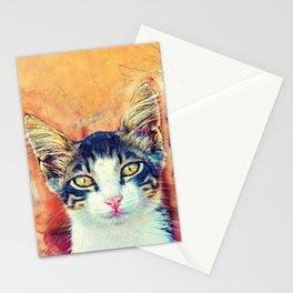 Cat Jacky art #cat #kitty Stationery Cards
