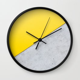 Yellow & Gray Abstract Background Wall Clock