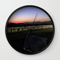 motorbike Wall Clocks featuring Motorbike Vision by Cassandra Evelyn