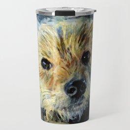 Cute puppy, dog impressionist painting Travel Mug