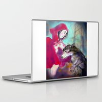 red hood Laptop & iPad Skins featuring red hood by AliluLera