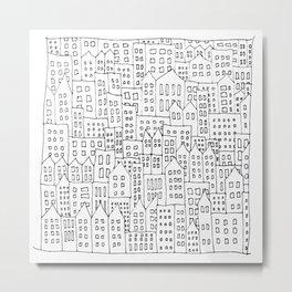 Coit City Pattern 1 Metal Print