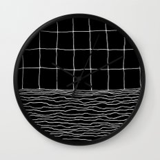 Hand Drawn Grid Wall Clock