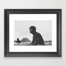 Surfing La Push, Washington USA Framed Art Print