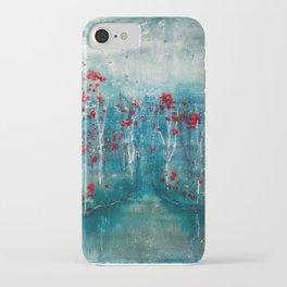 Red Flower Marsh iPhone Case